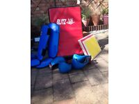 Child karate pads and gloves