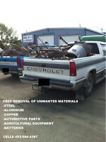 FREE REMOVAL OF SCRAP STEEL AND MATERIALS