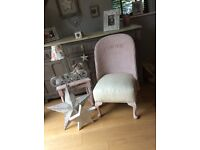 Vintage Lloyd loom chair and table