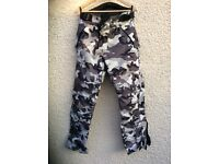 Motorcycle clothing camouflage trousers