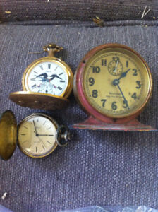 antique clock and watches