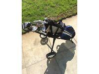 Junior golf club and trolley