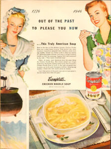 Campbell's Chicken Noodle Soup, 1946 Ad