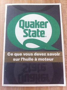 Quaker State - litérature rétro