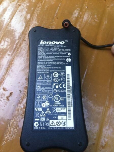 Lenovo laptop adaptor. 19V x 4.74A.  In good working condition.