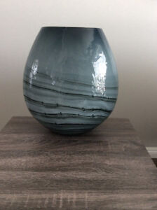 "Gorgeous ""Moonscape"" Glass Table Lamp"