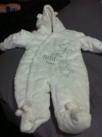 Unisex white all in one soft coat
