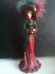 """DRESSED FOR THE HOLIDAY"" Victorian Collectable Lady Figurine"