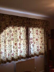 Dorma kalamkari curtains and pelmet