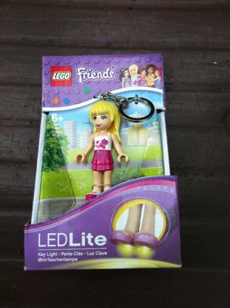 Lego Friend Key chain and LED light. New and unused.