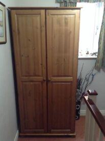 Pine double wardrobe £50