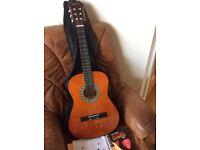 Junior acoustic guitar and accessories