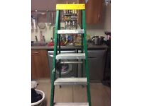 Youngman 5 step fibre glass step ladders very good condition light use in house £50 call 07440669494