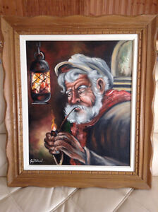 """GUY BELAND TOILE Painting PORTRAIT 20x24"""" REDUCED"""