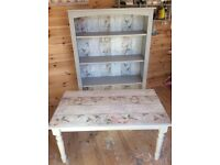 Shabby chic matching bookcase & coffee table