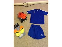 Football kit and boots