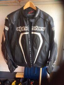 Mens 2 piece bike leathers