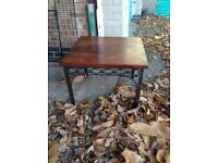 Lovely metal and hardwood coffee table