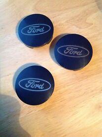 3 genuine Ford Focus alloy wheel centre caps