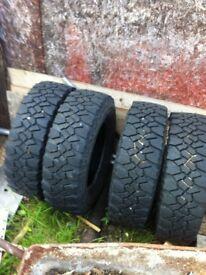 Off-road tyres 235/70/16