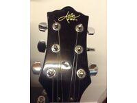 Aslin Dean jazz guitar and case