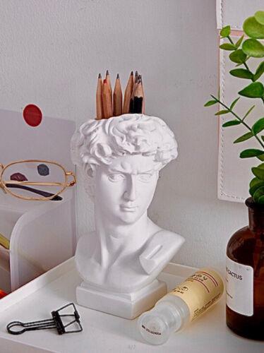 Home Decoration - David Head Bust Resin Statue Pen Makeup brush Holder Flower Vase Home Decoration