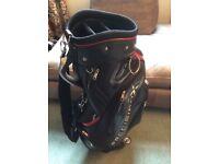 Precision-X High Quality BLACK Premium Waterproof Faux Leather Golf Bag
