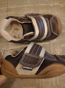 Brown outdoor toddler Shoes by Pediped (size 6-6.5) Kitchener / Waterloo Kitchener Area image 1
