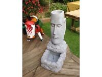 Large Easter Island Head water feature