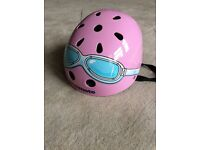 Pink Micro kiddimoto helmet 48-52 cm