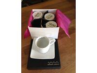 William Mason Boxed Set Espresso Coffee Cups & Saucers