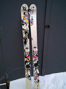 163cm Volkl Aura and Marker Squire Bindings