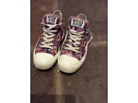 Converse Periwinkle print woman's Chuck Taylor floral sneakers