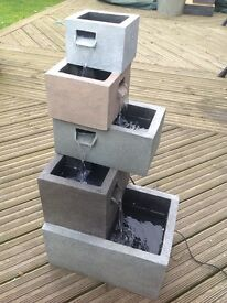 4 tier cascading water feature