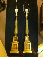 Two Vintage Sylvania Table Lamps