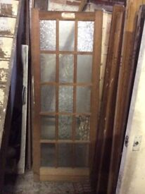 Door 15 panes old but unused it as 15 panes of glass loose pined