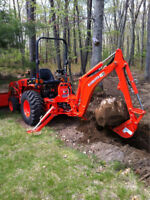Excavation , post holes and property maintenance