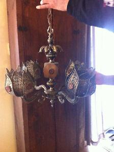 LAMPE LAITON FILIGRANE TULIPE VINTAGE/ANTIQUE