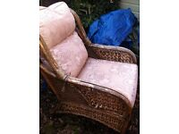 2 wicker chairs with cushions )please read ad)