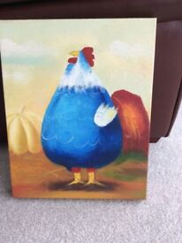 Funky chicken canvas