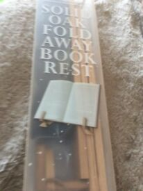 John Lewis solid oak fold away book rest