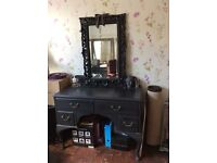 Vintage shabby chic dressing table and mirror