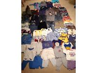Bundle of baby boy clothes 9-12 months.