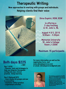 Prof. Dev. Training for Therapists & Social Workers: Aug 4-5