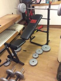 Pro power bench and 50kg weights
