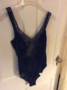 Lingerie - Beautiful Black Lace Teddy/Snap-up Body Suit