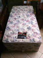 Twin XL Sears-O-Pedic Box Spring and Mattress