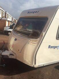 Bailey ranger 460/4 lightweight fixed bed caravan