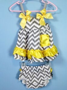 5 styles summer dress & ruffle bloomers/diaper cover set 6-12m