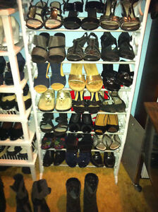 Size 6-7....over 50 pairs of Shoes - Sandals, Dressy, Office